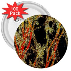 Artistic Effect Fractal Forest Background 3  Buttons (100 Pack)