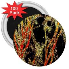 Artistic Effect Fractal Forest Background 3  Magnets (100 pack)