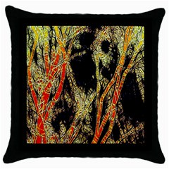 Artistic Effect Fractal Forest Background Throw Pillow Case (black)
