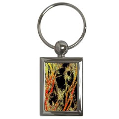 Artistic Effect Fractal Forest Background Key Chains (rectangle)