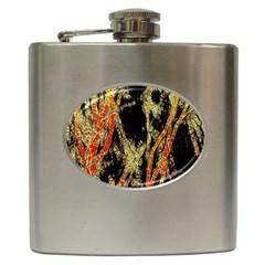 Artistic Effect Fractal Forest Background Hip Flask (6 oz)
