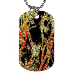 Artistic Effect Fractal Forest Background Dog Tag (Two Sides)