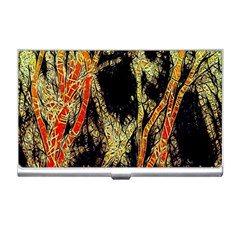 Artistic Effect Fractal Forest Background Business Card Holders