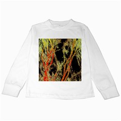 Artistic Effect Fractal Forest Background Kids Long Sleeve T-Shirts