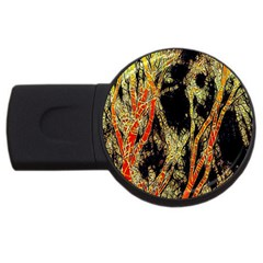 Artistic Effect Fractal Forest Background Usb Flash Drive Round (4 Gb)