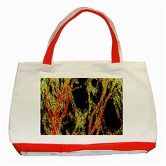 Artistic Effect Fractal Forest Background Classic Tote Bag (red)