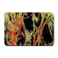 Artistic Effect Fractal Forest Background Small Doormat