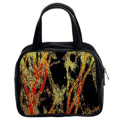 Artistic Effect Fractal Forest Background Classic Handbags (2 Sides)