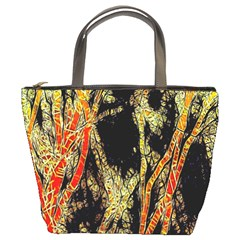Artistic Effect Fractal Forest Background Bucket Bags