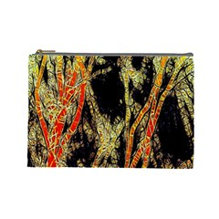Artistic Effect Fractal Forest Background Cosmetic Bag (large)