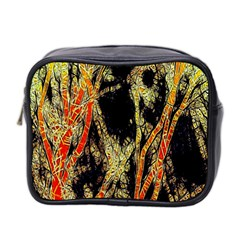 Artistic Effect Fractal Forest Background Mini Toiletries Bag 2 Side