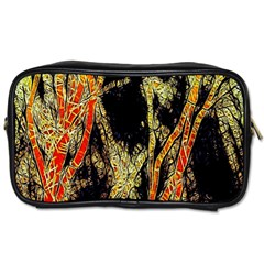 Artistic Effect Fractal Forest Background Toiletries Bags 2 Side