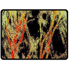Artistic Effect Fractal Forest Background Fleece Blanket (Large)