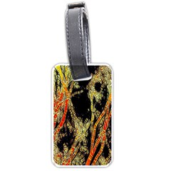 Artistic Effect Fractal Forest Background Luggage Tags (one Side)