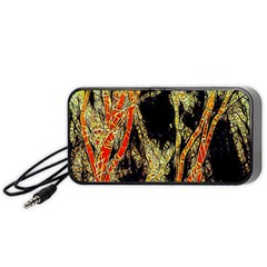 Artistic Effect Fractal Forest Background Portable Speaker (black)