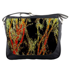 Artistic Effect Fractal Forest Background Messenger Bags