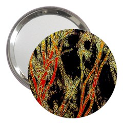 Artistic Effect Fractal Forest Background 3  Handbag Mirrors