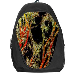 Artistic Effect Fractal Forest Background Backpack Bag