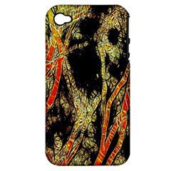 Artistic Effect Fractal Forest Background Apple Iphone 4/4s Hardshell Case (pc+silicone)