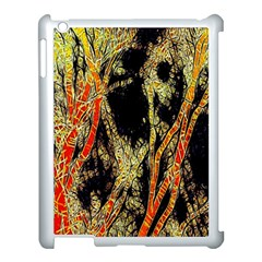 Artistic Effect Fractal Forest Background Apple iPad 3/4 Case (White)