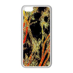 Artistic Effect Fractal Forest Background Apple Iphone 5c Seamless Case (white)