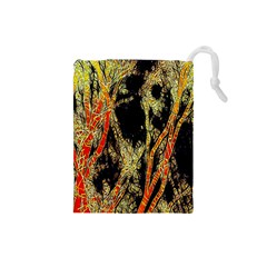 Artistic Effect Fractal Forest Background Drawstring Pouches (small)