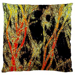Artistic Effect Fractal Forest Background Large Flano Cushion Case (one Side)