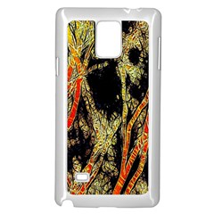 Artistic Effect Fractal Forest Background Samsung Galaxy Note 4 Case (white)