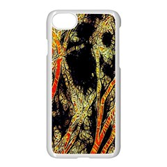 Artistic Effect Fractal Forest Background Apple Iphone 7 Seamless Case (white)