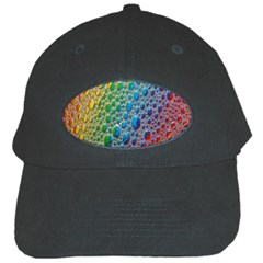 Bubbles Rainbow Colourful Colors Black Cap