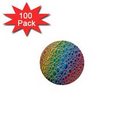 Bubbles Rainbow Colourful Colors 1  Mini Buttons (100 Pack)