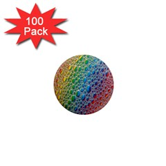 Bubbles Rainbow Colourful Colors 1  Mini Magnets (100 pack)