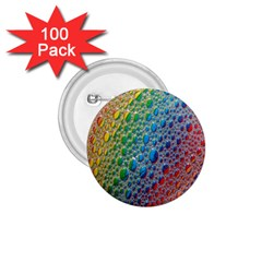 Bubbles Rainbow Colourful Colors 1 75  Buttons (100 Pack)