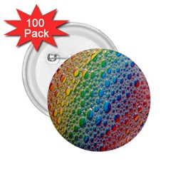 Bubbles Rainbow Colourful Colors 2 25  Buttons (100 Pack)