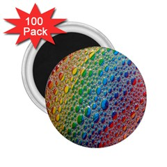 Bubbles Rainbow Colourful Colors 2 25  Magnets (100 Pack)