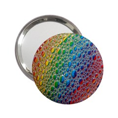 Bubbles Rainbow Colourful Colors 2 25  Handbag Mirrors