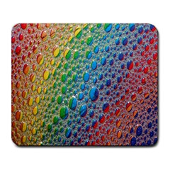 Bubbles Rainbow Colourful Colors Large Mousepads
