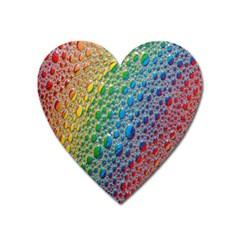 Bubbles Rainbow Colourful Colors Heart Magnet