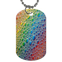 Bubbles Rainbow Colourful Colors Dog Tag (one Side)