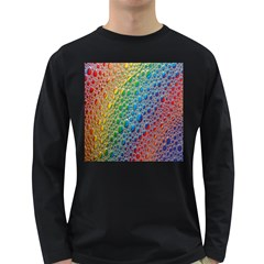 Bubbles Rainbow Colourful Colors Long Sleeve Dark T Shirts