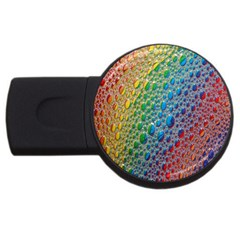 Bubbles Rainbow Colourful Colors USB Flash Drive Round (4 GB)