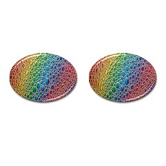 Bubbles Rainbow Colourful Colors Cufflinks (oval)
