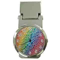 Bubbles Rainbow Colourful Colors Money Clip Watches