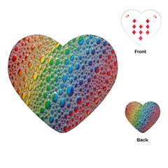 Bubbles Rainbow Colourful Colors Playing Cards (heart)