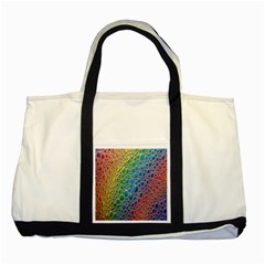 Bubbles Rainbow Colourful Colors Two Tone Tote Bag