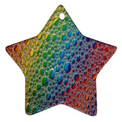 Bubbles Rainbow Colourful Colors Star Ornament (two Sides)