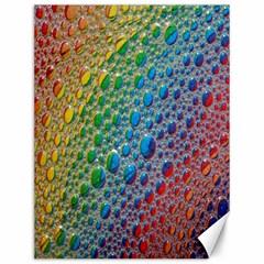 Bubbles Rainbow Colourful Colors Canvas 12  X 16