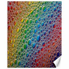 Bubbles Rainbow Colourful Colors Canvas 11  X 14