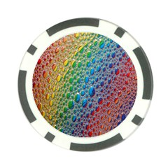 Bubbles Rainbow Colourful Colors Poker Chip Card Guard