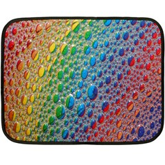 Bubbles Rainbow Colourful Colors Double Sided Fleece Blanket (mini)